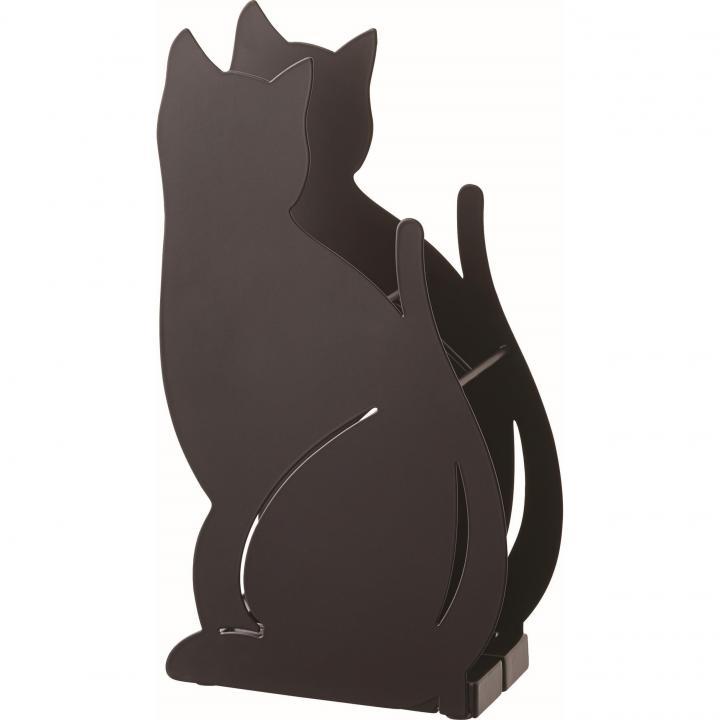 かさたて ネコ ブラック_0