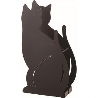 かさたて ネコ ブラック