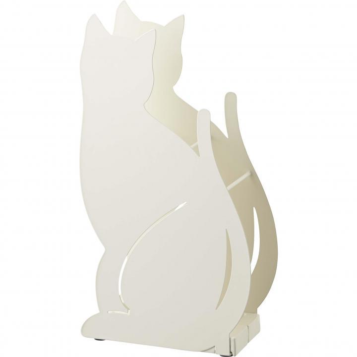 [新iPhone記念特価]かさたて ネコ ホワイト
