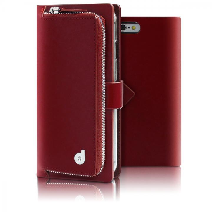 【iPhone6s/6ケース】お財布付き手帳型ケース Combi Jacket レッド iPhone 6s/6_0