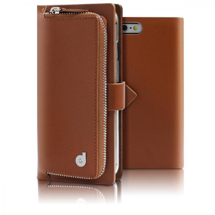 お財布付き手帳型ケース Combi Jacket ブラウン iPhone 6s Plus/6 Plus