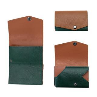 小さい財布 abrAsus(アブラサス) AppBankモデル キャメル×ダークグリーン