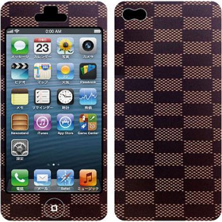 Nano Skin iPhone5 ブラウンチェック