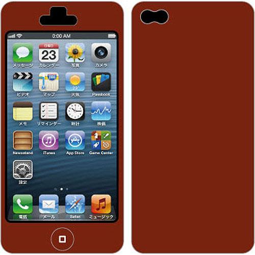 【iPhone SE/5s/5ケース】Nano Skin iPhone5 ワインレッド_0