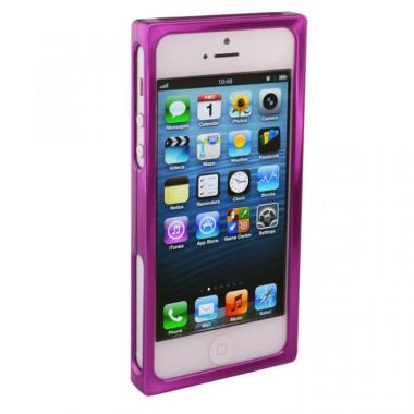 iPhone SE/5s/5 ケース RECTA バンパーケース パープル iPhone 5/5sケース