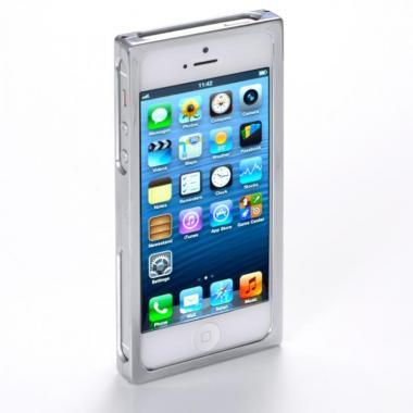 【iPhone SE/5s/5ケース】RECTA バンパーケース シルバー iPhone 5/5sケース