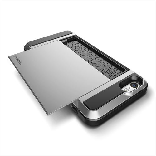 ICカードホルダー搭載ケースVERUS Damda Slide ライトシルバー iPhone 6