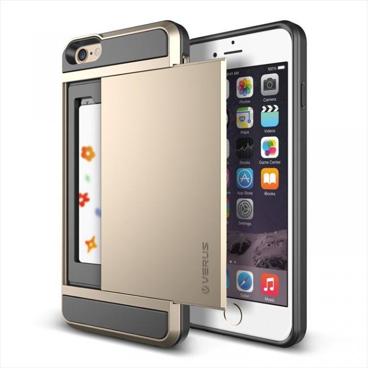 ICカードホルダー搭載ケースVERUS Damda Slide シャインゴールド iPhone 6 Plus