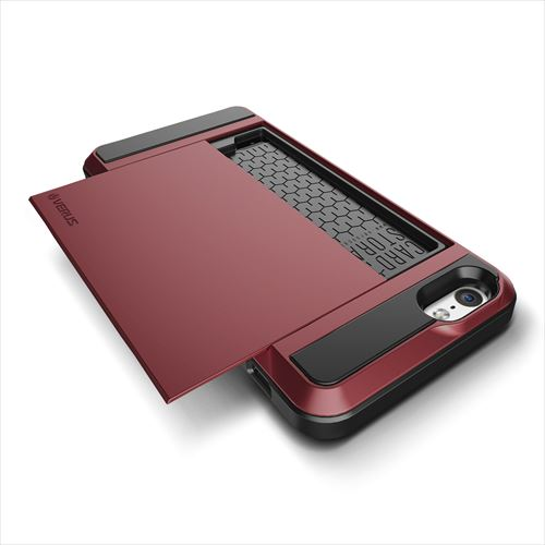 ICカードホルダー搭載ケースVERUS Damda Slide ワインレッド iPhone 6