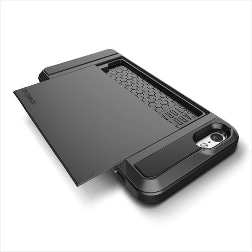 ICカードホルダー搭載ケースVERUS Damda Slide ダークシルバー iPhone 6
