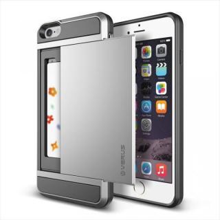 ICカードホルダー搭載ケースVERUS Damda Slide ライトシルバー iPhone 6 Plus