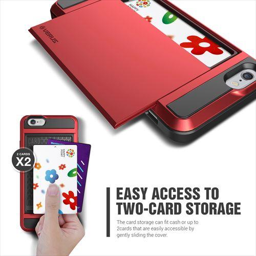 【iPhone6ケース】ICカードホルダー搭載ケースVERUS Damda Slide クリムゾンレッド iPhone 6_0