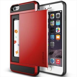 ICカードホルダー搭載ケースVERUS Damda Slide クリムゾンレッド iPhone 6 Plus