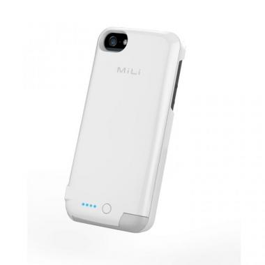 iPhone SE/5s/5 ケース MiLi Power Spring 5  iPhone5 ホワイト 2200mAh