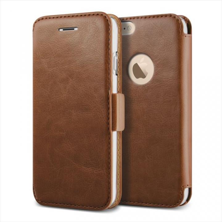【iPhone6 Plusケース】手帳型PUレザーケースVERUS Klop Diary ブラウン iPhone 6 Plus_0