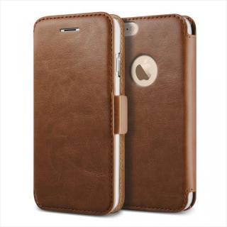 手帳型PUレザーケースVERUS Klop Diary ブラウン iPhone 6 Plus