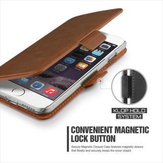 【iPhone6 Plusケース】手帳型PUレザーケースVERUS Klop Diary ブラウン iPhone 6 Plus_1