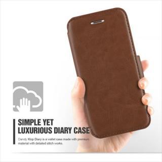 【iPhone6 Plusケース】手帳型PUレザーケースVERUS Klop Diary ブラウン iPhone 6 Plus_2