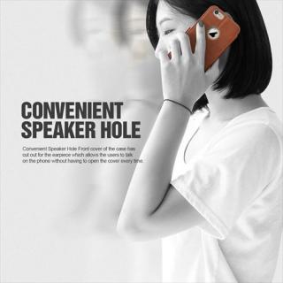 【iPhone6 Plusケース】手帳型PUレザーケースVERUS Klop Diary ブラウン iPhone 6 Plus_5