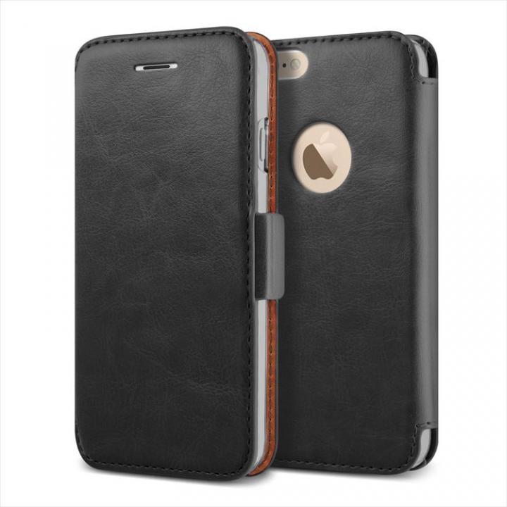 手帳型PUレザーケースVERUS Klop Diary ブラック iPhone 6 Plus