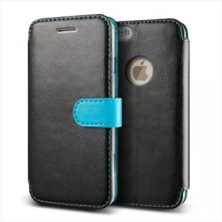 手帳型PUレザーケースVERUS Vivid Diary ブラック×ブルー iPhone 6