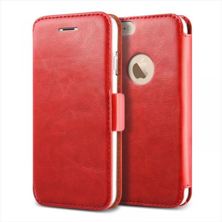 iPhone6 Plus ケース 手帳型PUレザーケースVERUS Klop Diary レッド iPhone 6 Plus_0