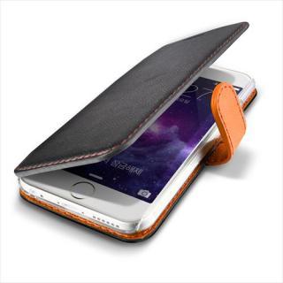 【iPhone6ケース】手帳型PUレザーケースVERUS Vivid Diary ブラック×オレンジ iPhone 6_1
