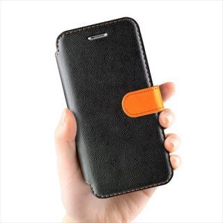 【iPhone6ケース】手帳型PUレザーケースVERUS Vivid Diary ブラック×オレンジ iPhone 6_2