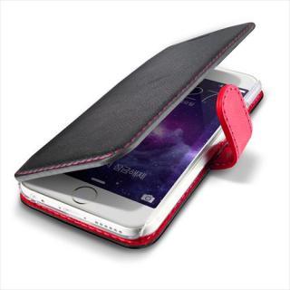 【iPhone6ケース】手帳型PUレザーケースVERUS Vivid Diary ブラック×ホットピンク iPhone 6_1