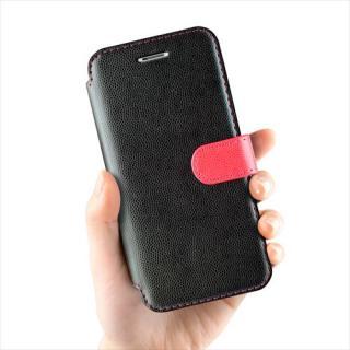 【iPhone6ケース】手帳型PUレザーケースVERUS Vivid Diary ブラック×ホットピンク iPhone 6_2
