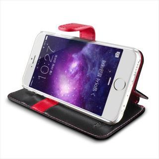 【iPhone6ケース】手帳型PUレザーケースVERUS Vivid Diary ブラック×ホットピンク iPhone 6_4
