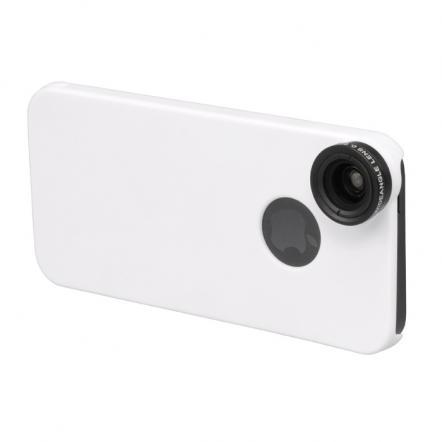 iPhone SE/5s/5用 広角&マクロレンズキット ホワイト
