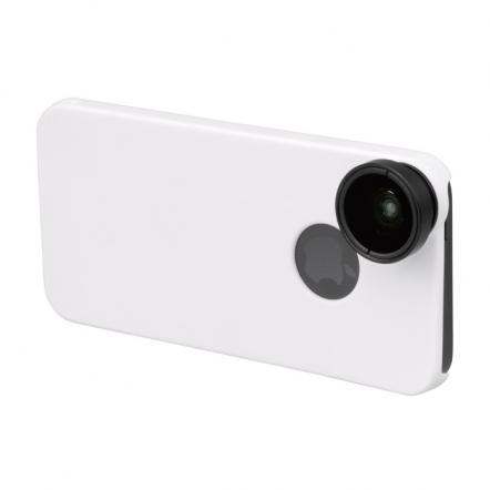 iPhone SE/5s/5用 魚眼&マクロレンズキット ホワイト