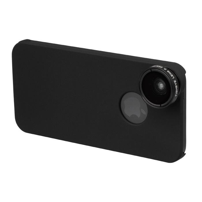 【iPhone SE/5s/5ケース】iPhone SE/5s/5用 魚眼&マクロレンズキット ブラック_0