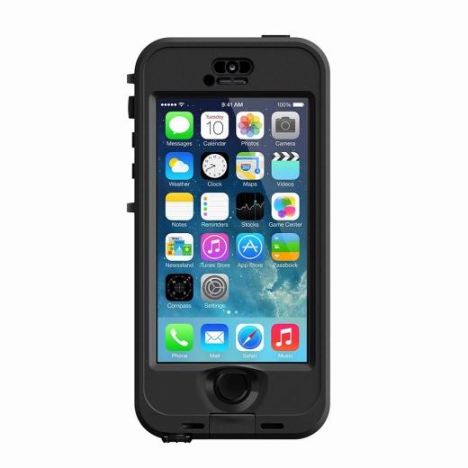 iPhone SE/5s/5 ケース 防水なのに液晶画面に直接触れる LifeProof nuud ブラック iPhone SE/5s/5 ケース_0