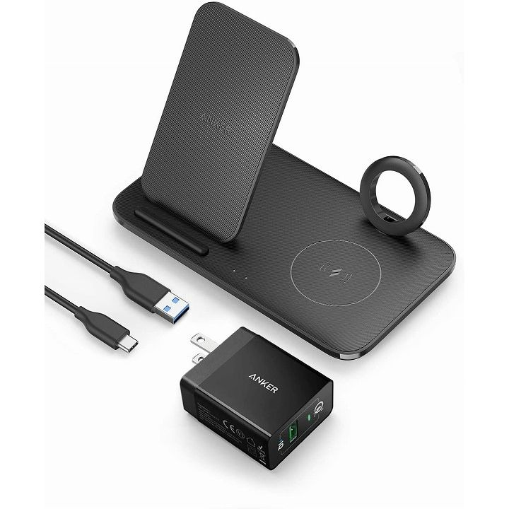 Anker PowerWave+ 3-in-1 Stand with Watch Holder Black_0