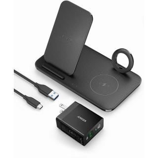 Anker PowerWave+ 3-in-1 Stand with Watch Holder Black【5月中旬】