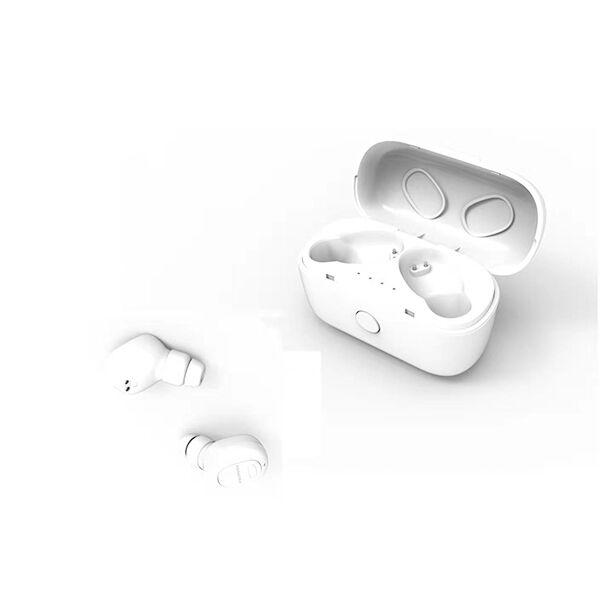 Bluetooth5.0対応 オートペアリング機能搭載 高性能完全ワイヤレスイヤホン ホワイト_0