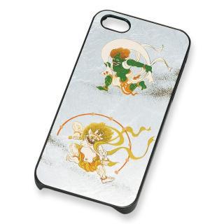 【iPhone SE/5s/5ケース】漆芸 銀箔風神雷神 iPhone SE/5s/5 ケース