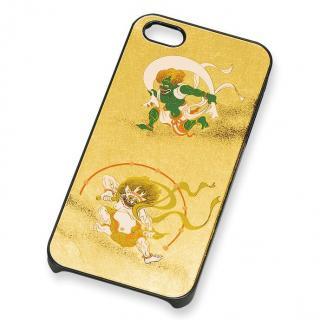 漆芸 金箔風神雷神 iPhone SE/5s/5 ケース