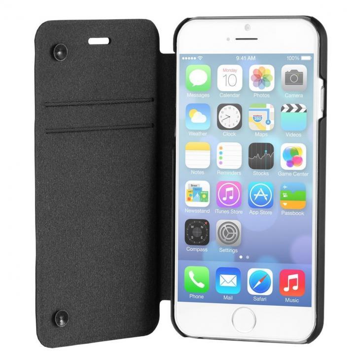 【iPhone6ケース】スリム設計手帳型ケース STM ブラック iPhone 6_0