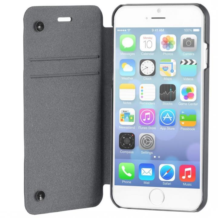 【iPhone6ケース】スリム設計手帳型ケース STM チャコール iPhone 6_0