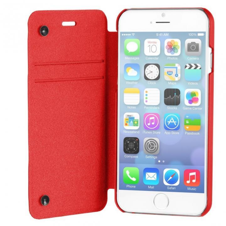 【iPhone6ケース】スリム設計手帳型ケース STM レッド iPhone 6_0