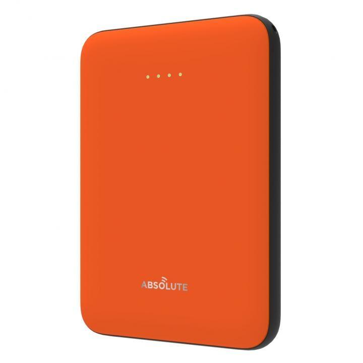 ABSOLUTE ultra mini 5000 モバイルバッテリー オレンジ x ブラック_0