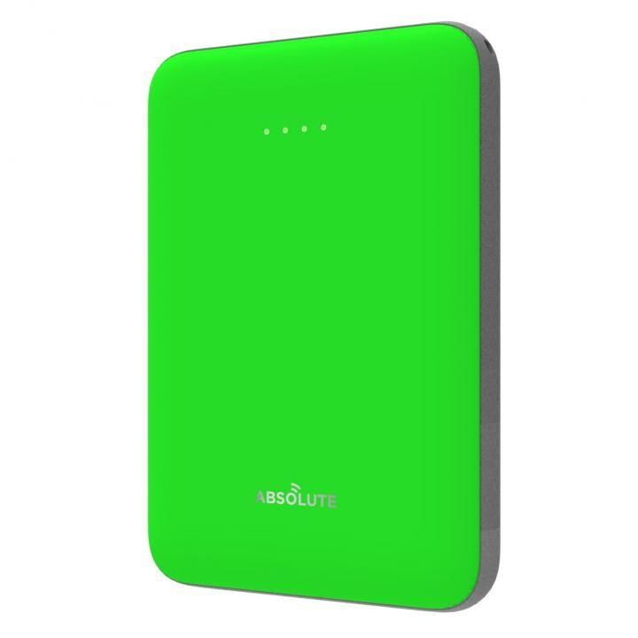 ABSOLUTE ultra mini 5000 モバイルバッテリー グリーン x ダークグレー_0