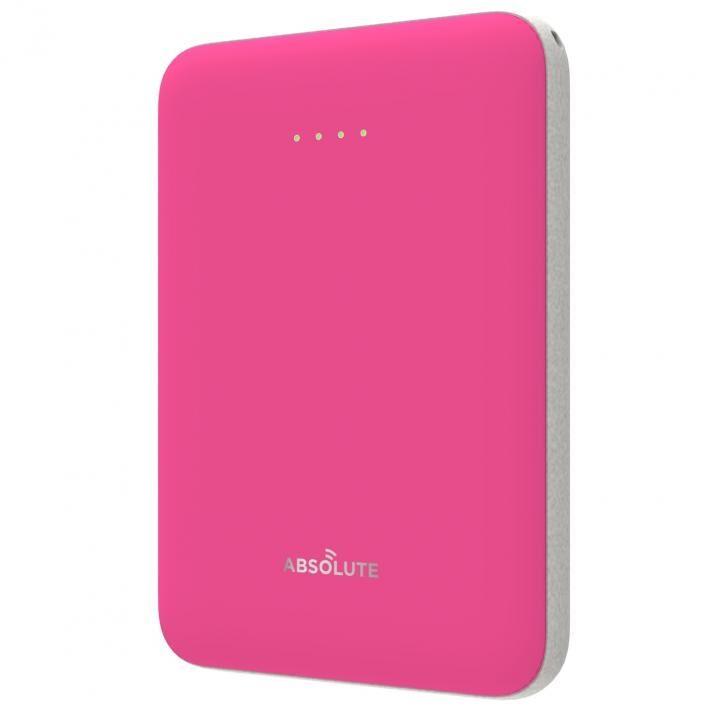 ABSOLUTE ultra mini 5000 モバイルバッテリー ピンク x ライトグレー_0