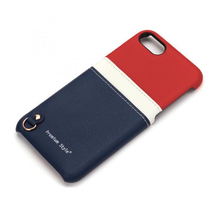 【iPhone7/6s/6ケース】バックポケットケース White Line トリコロール iPhone 7/6s/6_0