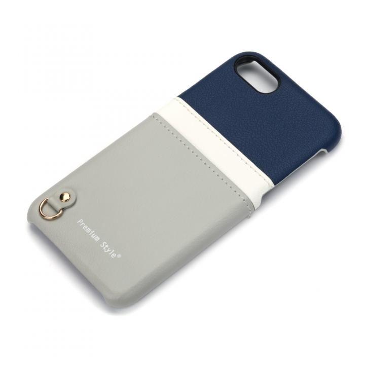 バックポケットケース White Line ネイビー&グレー iPhone 7/6s/6