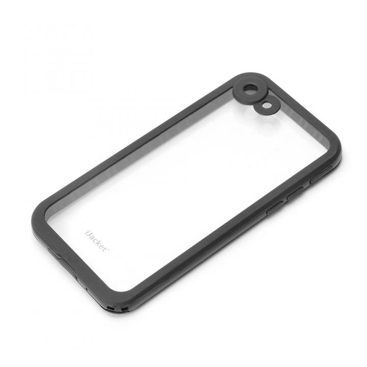 [2018新生活応援特価]iJacket IP68防水 耐衝撃ケース ブラック iPhone 7