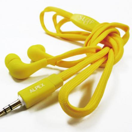 靴ヒモコードイヤフォン117 yellow